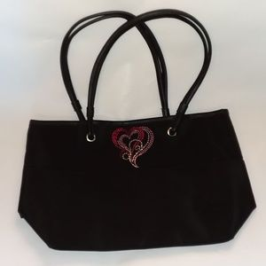 2 for $20 - Bedazzled Heart Tote